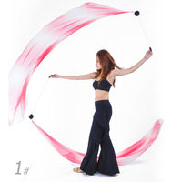 BestDance Belly Dance Veil Poi Accessories Black Ball Soft Multicolor Veil Shawl Prop OEM