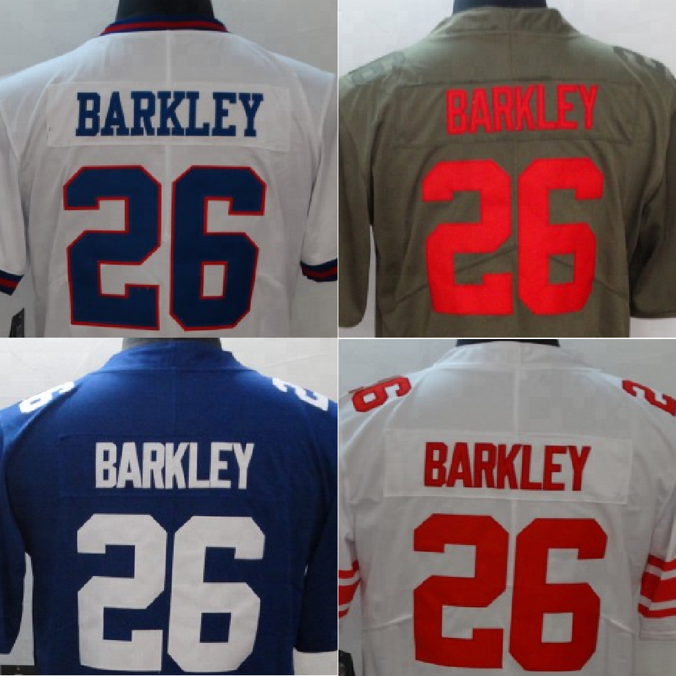 new concept bb1b3 de6a7 Ny Saquon Barkley 26 Blue White Stitched American Football Jersey - Buy  Saquon Barkley Color Rush Football Jersey,American Football Game  Jersey,Saquon ...