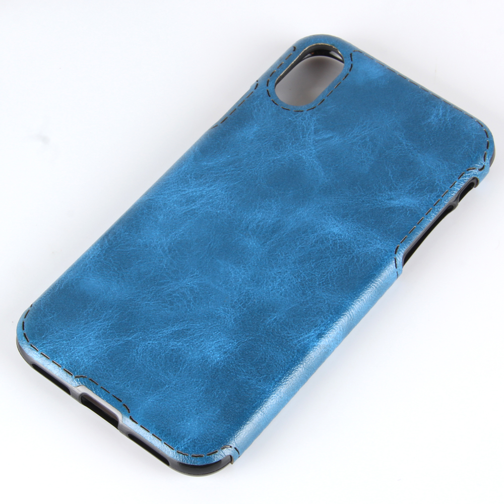 High Quality Luxury PU Leather and Soft TPU Zebra-stripe Mobile Phone Shell Cover Case for Apple iPhone X