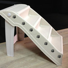 EASTONY Portable Plastic Pet Steps Supports over 120 pounds