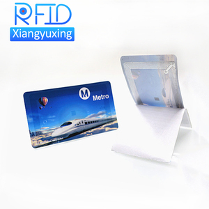 Credit card size printing nfc payment bus ticket disposable paper rfid ticket card for public transport