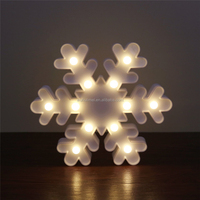 White LED Lighted Snowflake Christmas Window Silhouette Decoration