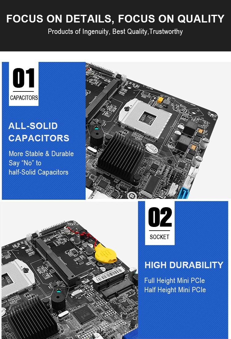コア i3/i5/i7 PGA 988 CPU DDR3 インテル HM55 デュアルチャンネル 18/24-ビット LVDS SATA 3 ギガバイト/秒ハーフ最小 PCI-E ミニ ITX PC マザーボード
