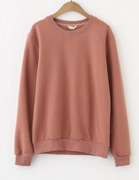 EY1961B plain sweatshirts without hood women hoodies 2016 pullover  sweatshirt without hood for girls 7a65936068