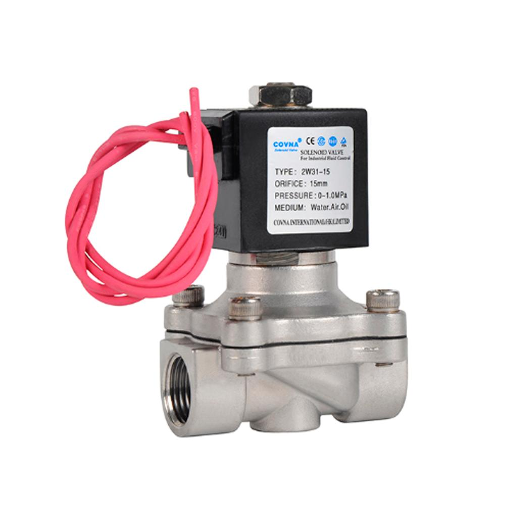 Normally Closed 3/8 inch DC 24V Stainless Steel Water Solenoid <strong>Valve</strong>