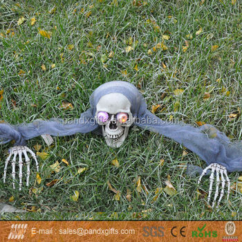 Halloween Light Up Skull For Garden Decor - Buy Halloween Garden ...