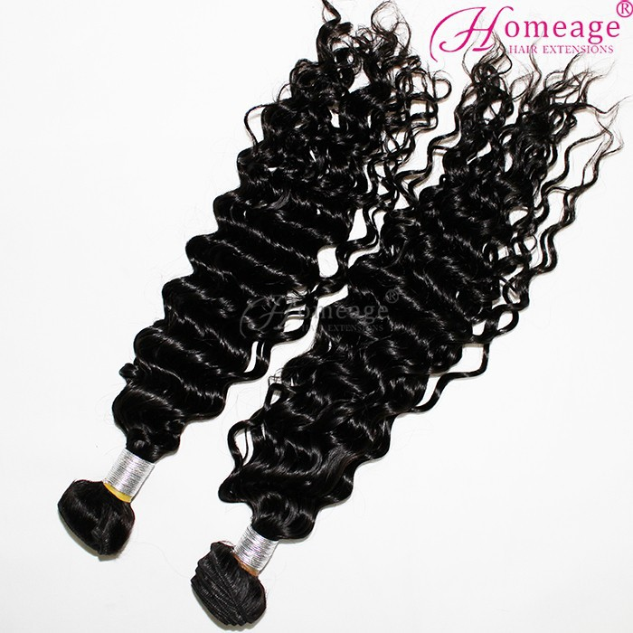 Homeage natural real remy human hair extensions romance curl