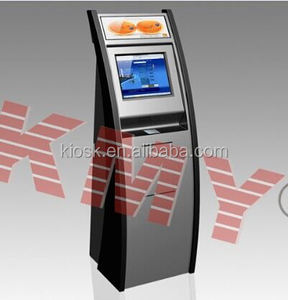 Instant photo printing slim card payment touch screen kiosk