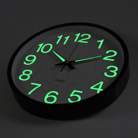 Modern 12 Inch 30cm Circular Round Night Glow Luminous Light Wall Clock