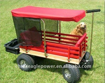 kid 39 s wooden wagon with canopy buy kids custom wagons kids red wagon children wooden wagon. Black Bedroom Furniture Sets. Home Design Ideas