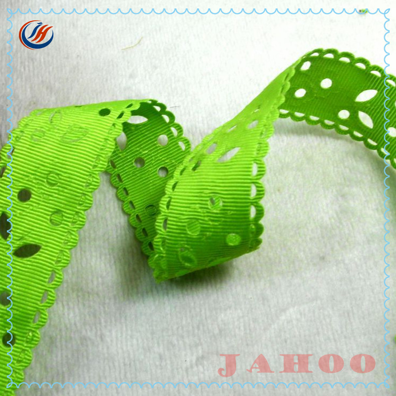 High Quality Beautiful Wholesale Ornamental Engraving Polyester Grosgrain Ribbon