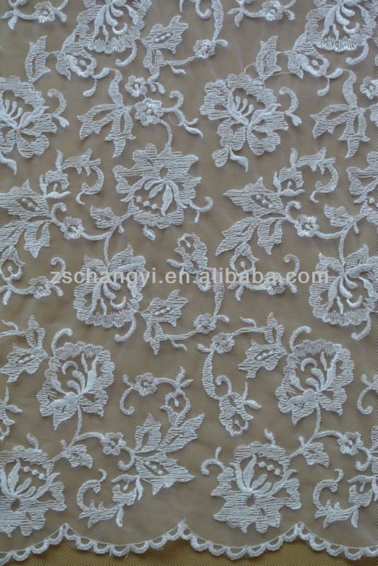 Embroidery Design Allover Floral Bridal Fabric And Lace