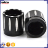 BJ-FS-HA001 High Quality Black Deep Edge CNC Billet Alloy Motorcycle Front Axle Cap Universal for Harley Davidson and Choppers