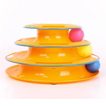 ball tower toy. 2017 new design hot selling cat kitten smart moving toy with ball tower of track as