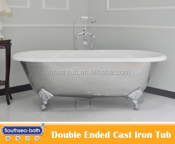 Antique Polished Claw footed Cast Iron Bath