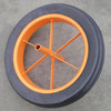"Heavy Duty Wheelbarrow Steel Rim 15""x3"" Rubber Solid Wheel"