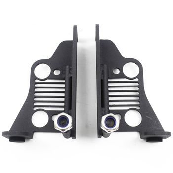 Exterior Door Hinge Powder Coated  Foot Peg for Jeep Wrangler JK 2DR JKU 4DR 2007-2018