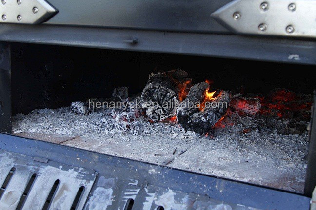 2 Layers Commercial Wood Coal Fire Small Size Wooden Pizza Oven For Western Restaurant Bakery Store