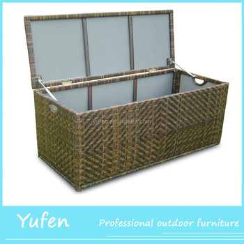 Genial Rattan Waterproof Outdoor Cushions Storage Box