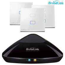 Broadlink Intelligent IR+RF Smart Remote RM PRO + Broadlink TC2 WiFI Smart Wall Light Switch ,Home Automation Kit,Touch Screen