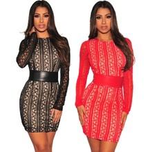 36e9ab6a746 Купить Красный Шнурок Обнаёенной Платье оптом из Китая