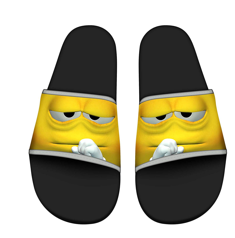 ZWJ Men Stylish Beach Sandals Anti-Slip Bath Slippers Shower Shoes Indoor Floor Slipper