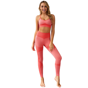 Wholesale Sportswear Fitness Clothing 2 Piece Set Women Clothing Seamless Yoga Set