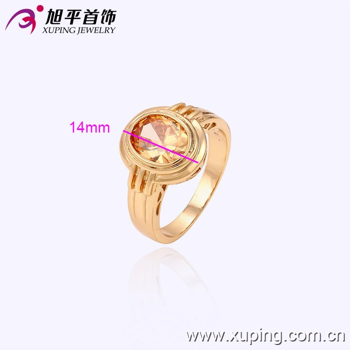 13431 Xuping fashion jewelry China wholesale 18k gold ring designs luxury glass rings charm jewelry for women