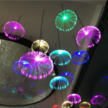 Diameter 20cm RGB inner controlled rainproof mini jellyfish chandelier hanging lights