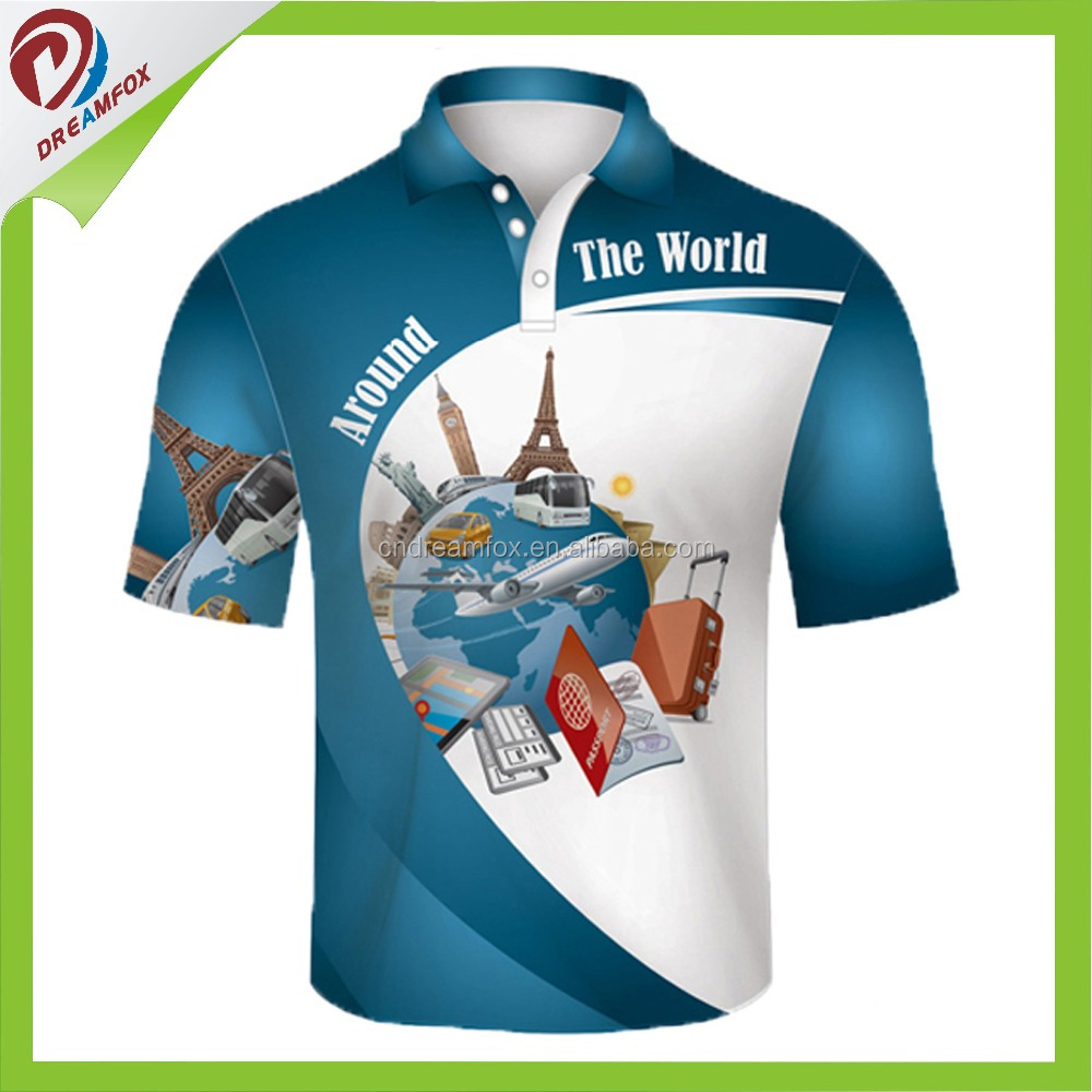 ed3b7c60 100% polyester customized polo shirts Wholesale China with OEM brands/logos custom  sublimation golf polo shirt for men