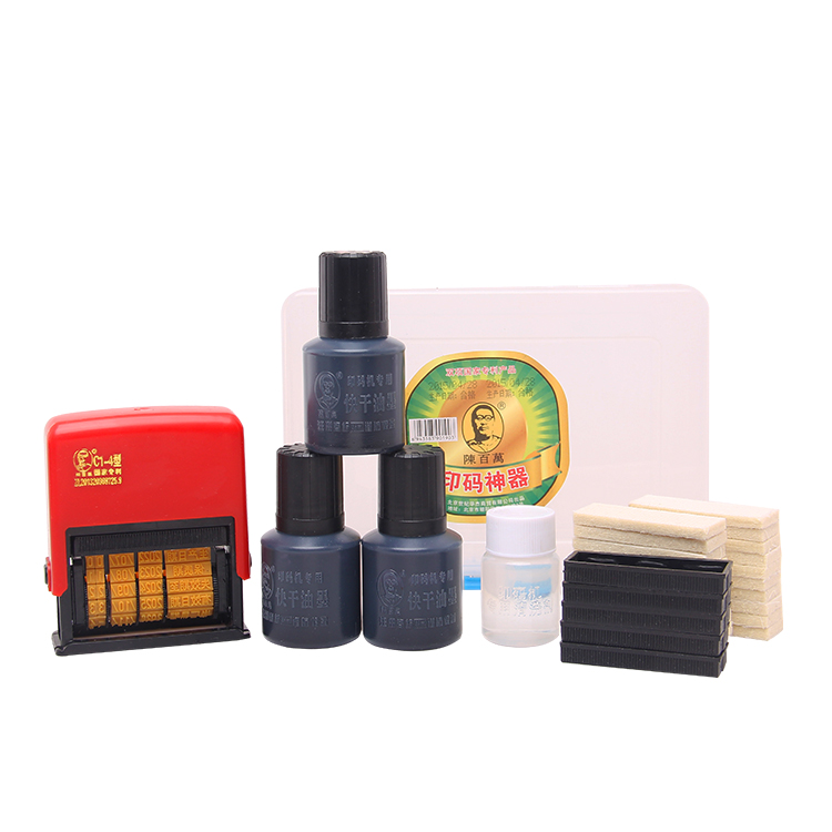New Digital Batch And Expiry Date Time Ellipse Self Inking Stamp