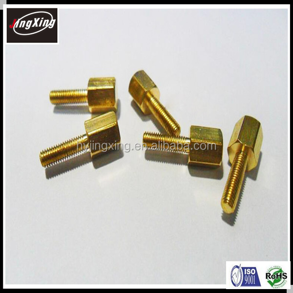 good quality customized 6-32 brass pcb standoff/spacer support