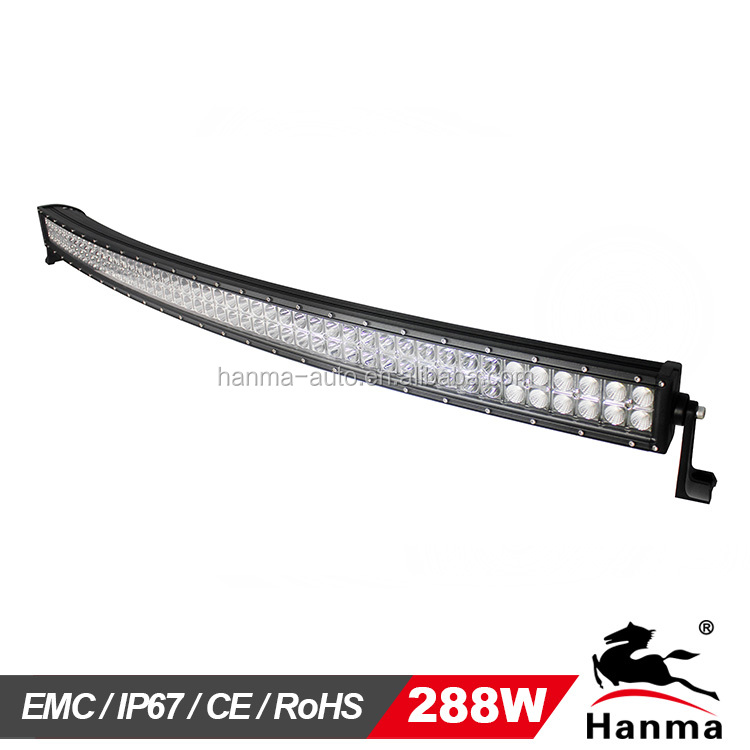 Hanma curved led light bar 50inch 288w1224v led light bar hanma curved led light bar 50inch 288w1224v led light baroffroad car accessories4x4 auto lightingtruck4wdjeepip67 buy offroad led spot light bar aloadofball Gallery