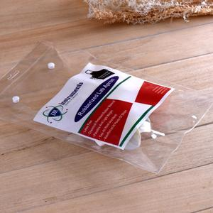 Custom size transparent clear plastic vinyl pvc apron packaging bag with snap button closure