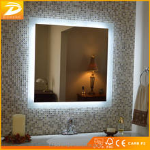 Modern Square Shape Bathroom Rated Highly Polished Silver LED Mirror Bathroom