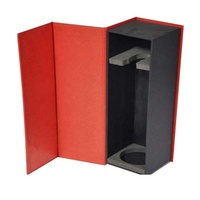 Cardboard Paper Packaging 2/3/6 Bottle Red Wine Gift Box With Inserts