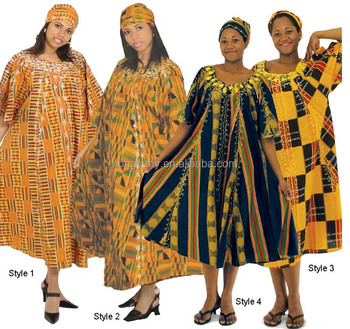 CH265 Modern African Beautiful Designs 100% Cotton Wax Fabric Kente Umbrella Dress