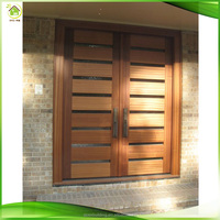 Antique style solid oak prehung exterior doors for home