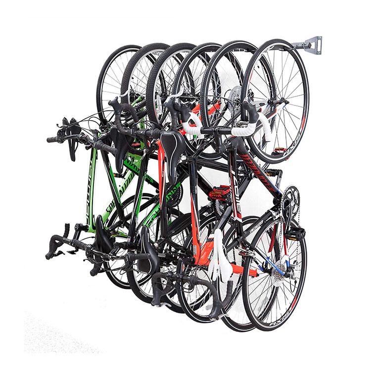 6 Store Metal Heavy Duty Bicycle Display Bar Wall Mounted Bike Storage Rack