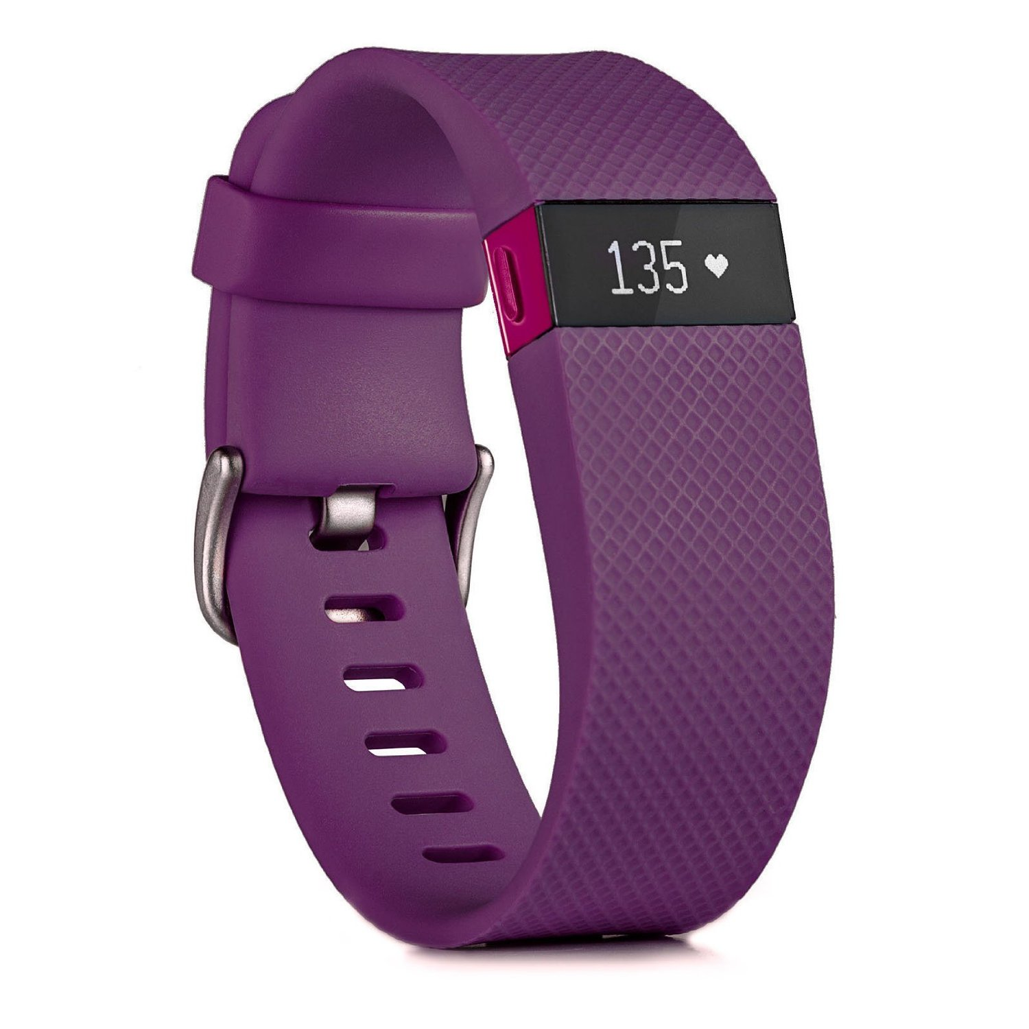 Plum Fitbit Charge HR Activity, Heart Rate + Sleep Wristband