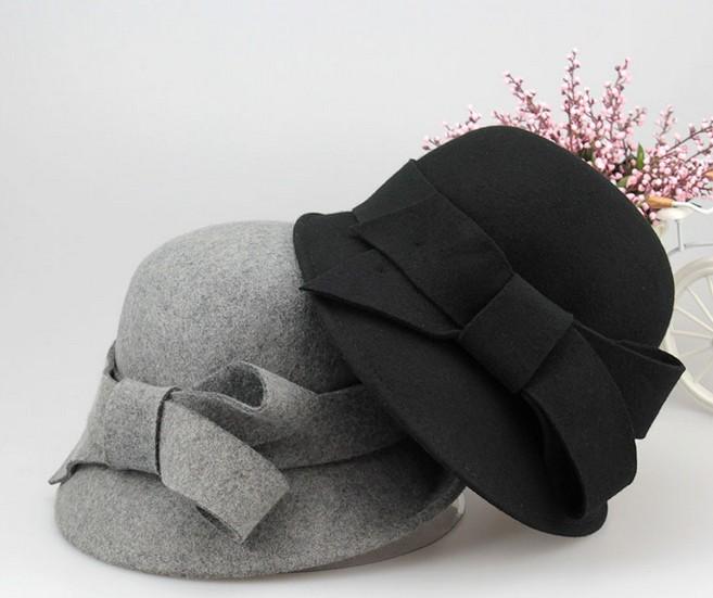 Fashion100% de fieltro de lana sombrero de la mujer por encargo de fieltro  sombrero cloche d35538e8bf8