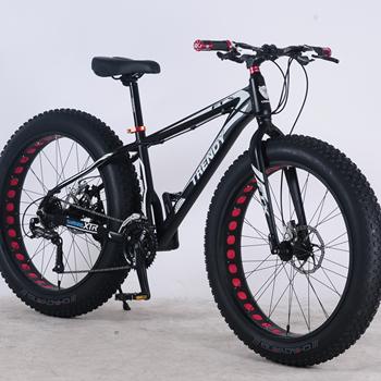 26 Inch Alloy Mtb Bike With Hydraulic Disc Brake Big Tire Snow Fat