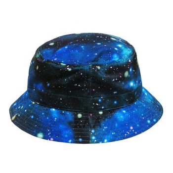 20c522e9c96 Custom made galaxy printed bucket sun cap kaavie palm leaf tie dyed tweed bucket  hat