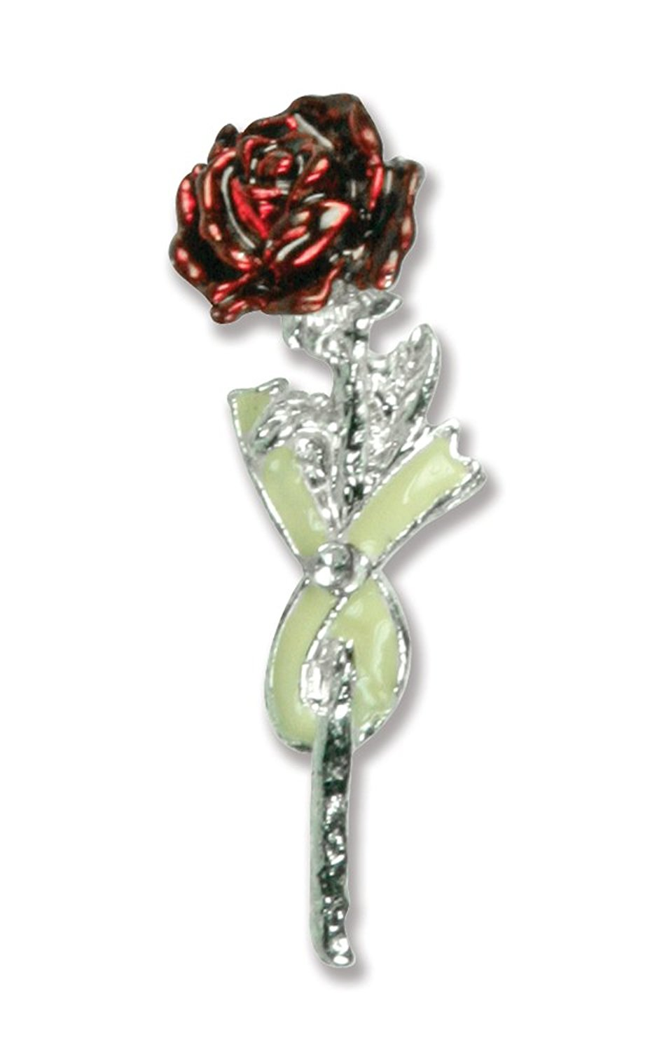 Banberry Designs I Thought of You With Love Today Memorial Pin - Red Rose Lapel Pin Gift Boxed with Sympathy Poem - Remembrance