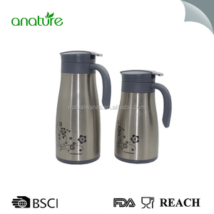 Stainless steel 1.2L double thermo air pots / air pressure coffee pot / metal thermos flask