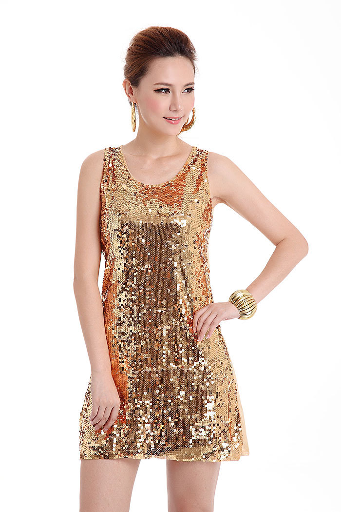 European style sequin dresses for Women, beautiful ...