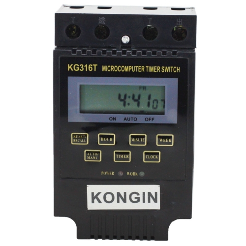 KG316T AC 220V LCD Digital Display Microcomputer Timer Control Switch