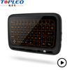 Latest technology new product H18 2.4G wireless blacklit touchpad keyboard mouse combo