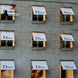 Swing arms window awning residential and commercial drop folding arm awning