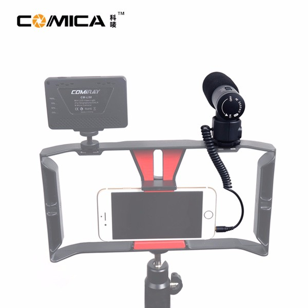 CoMica V20 Full Metal Cardioid Directional Shotgun Video Microphone Interview Microphone with Shock-Mount for Camera/Camcorder